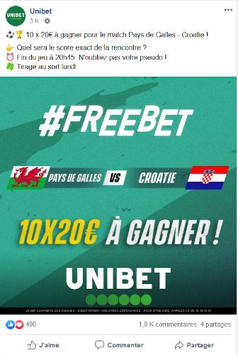 paris gratuits unibet