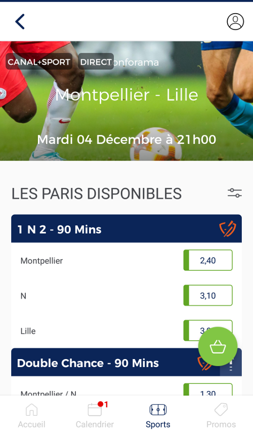 appli bookmaker parions sport