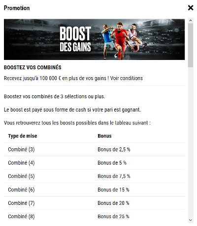 combinés boostés pokerstars sports
