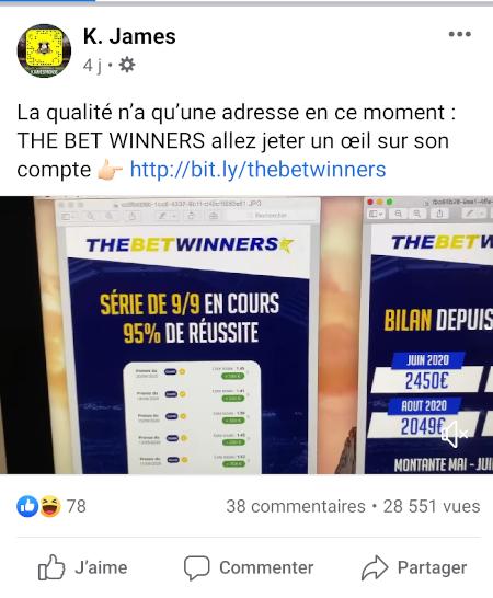 kjames the bet winners