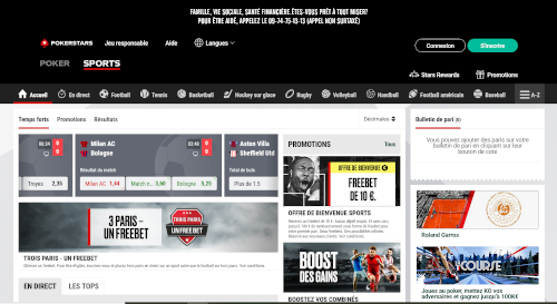 site pokerstars sports